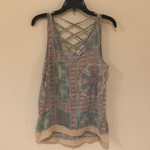 LOVE ON A HANGER MULTI COLORED TANK TOP